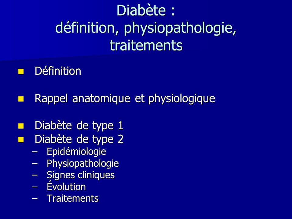 Diabète : définition, physiopathologie, traitements