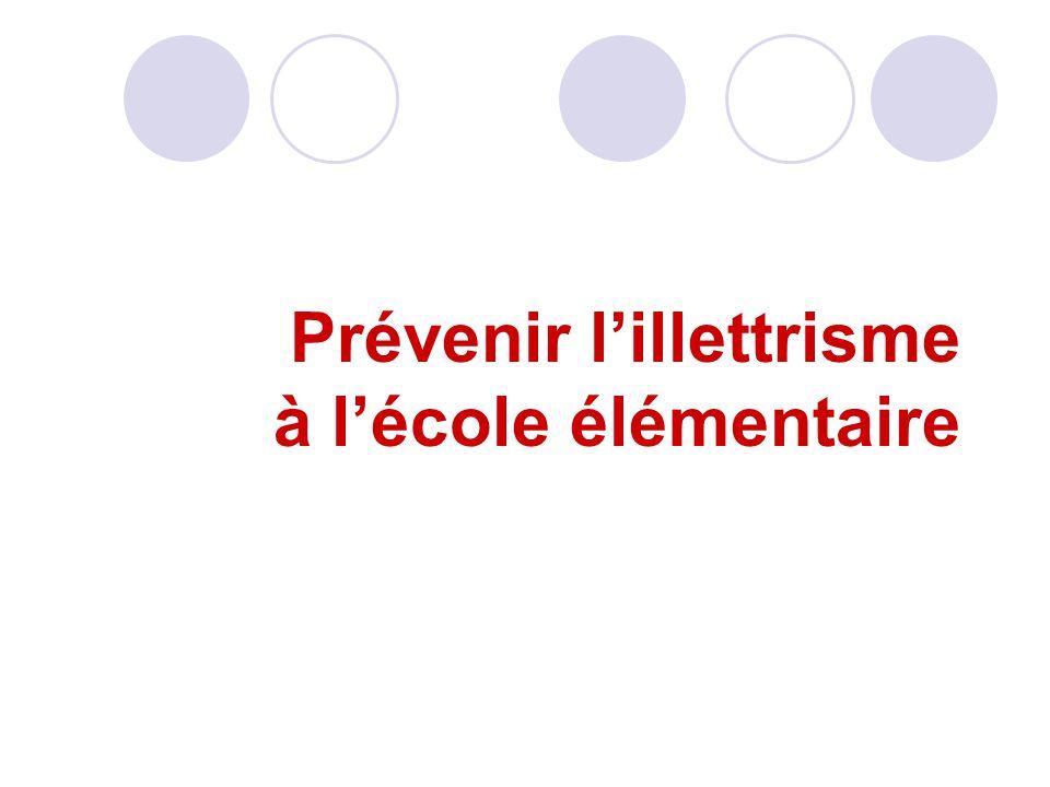 Prévenir l'illettrisme à l'école élémentaire