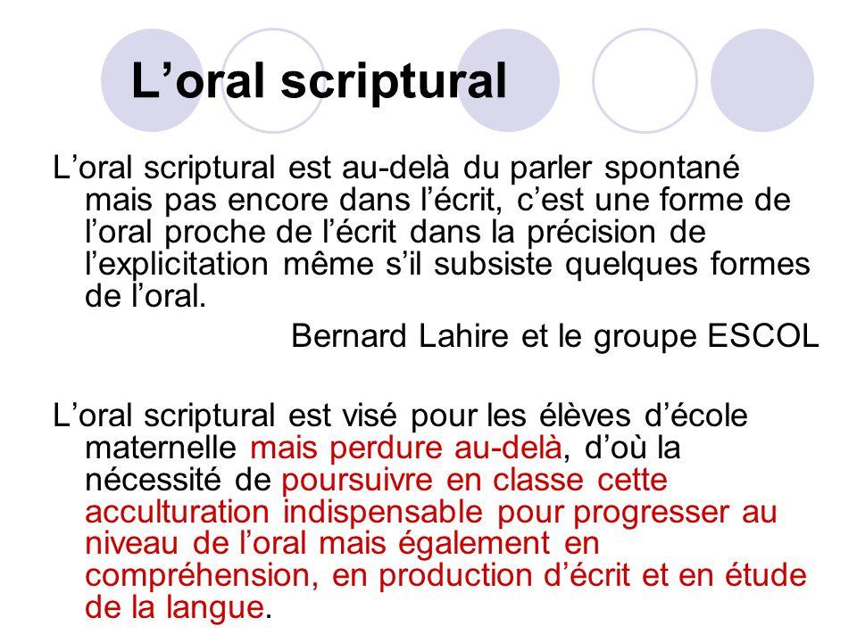 L'oral scriptural