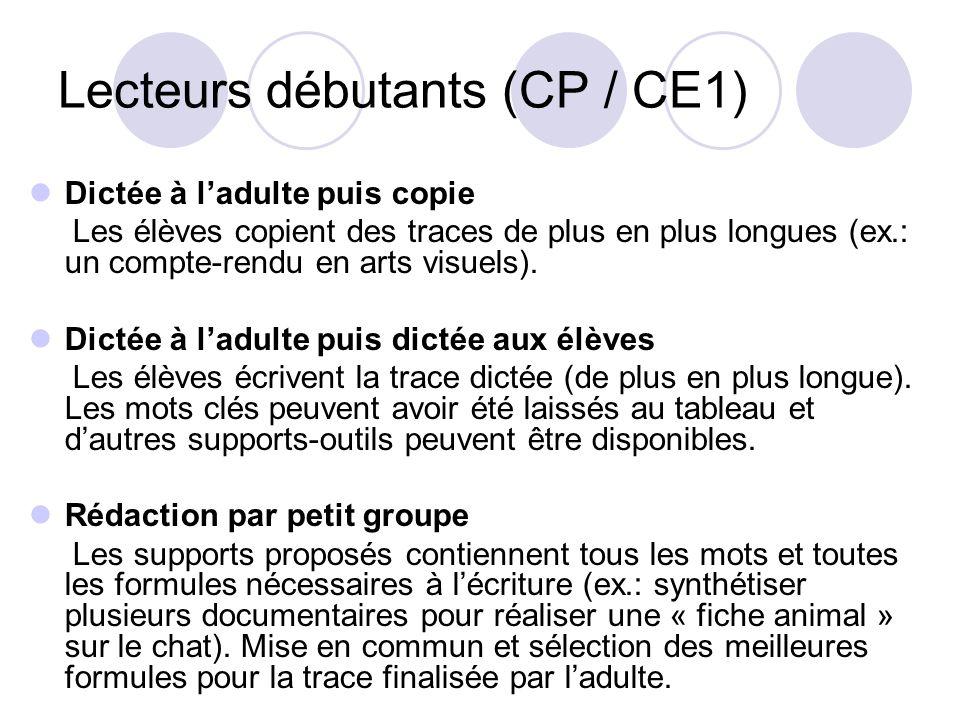 Lecteurs débutants (CP / CE1)