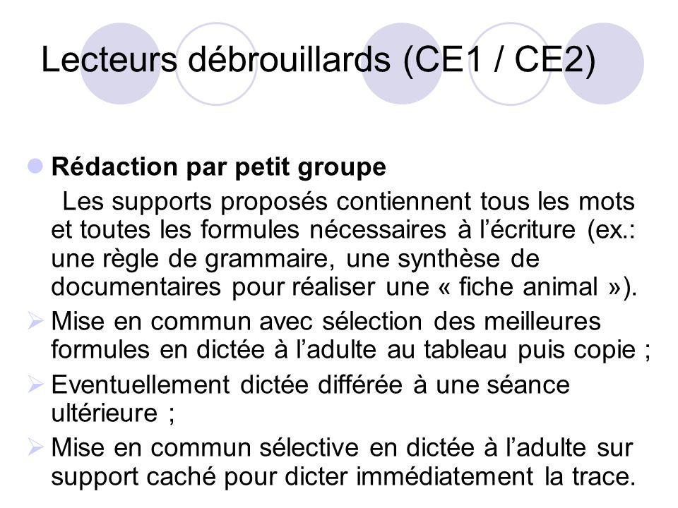 Lecteurs débrouillards (CE1 / CE2)