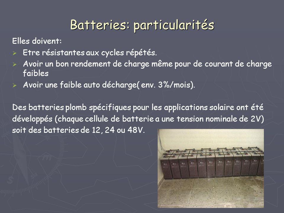 Batteries: particularités