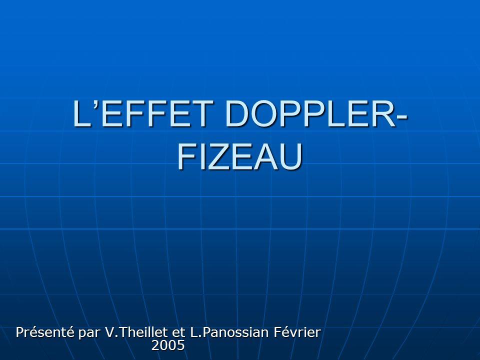 L'EFFET DOPPLER-FIZEAU