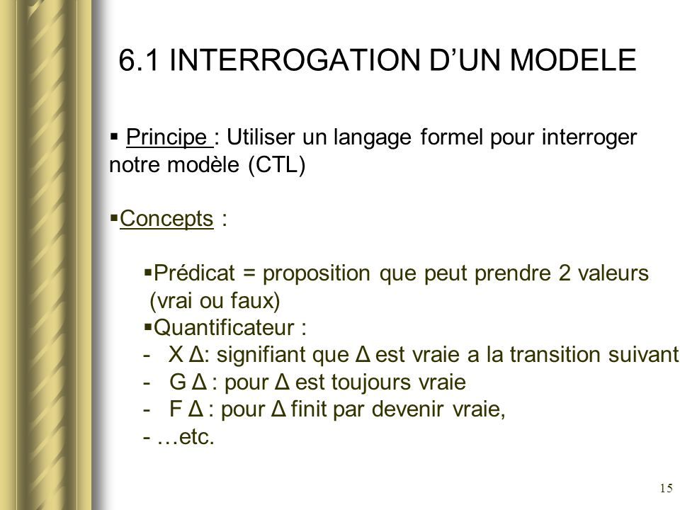 6.1 INTERROGATION D'UN MODELE