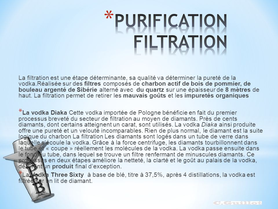 PURIFICATION FILTRATION