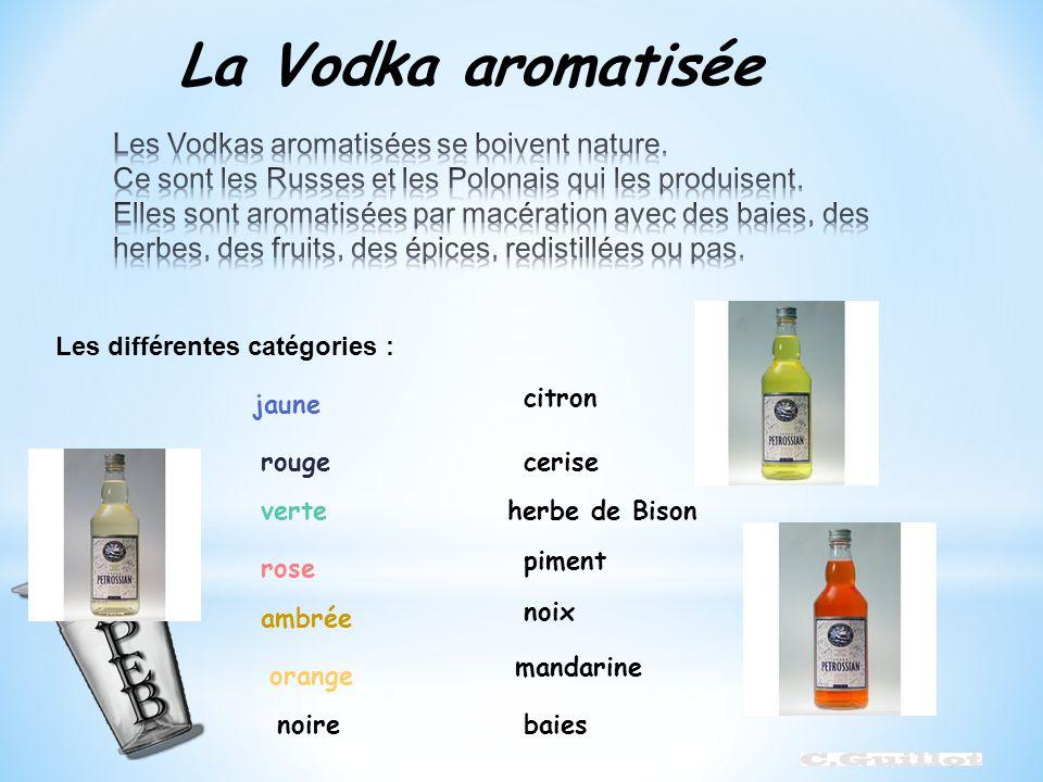 La Vodka aromatisée