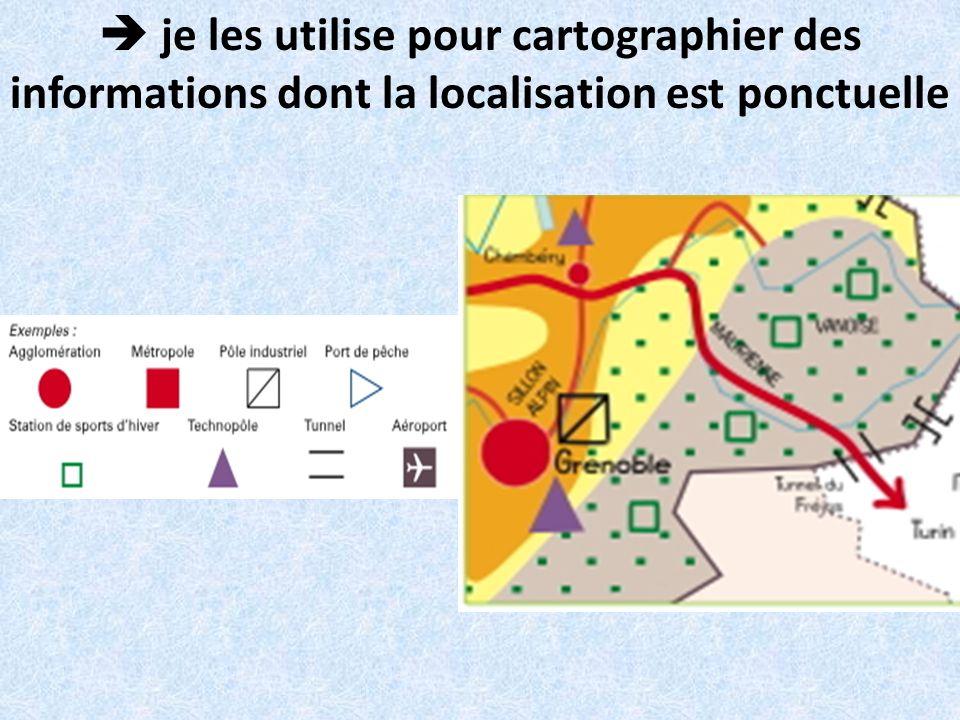 je les utilise pour cartographier des informations dont la localisation est ponctuelle
