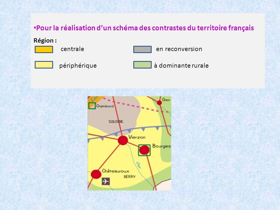 Pour la réalisation d'un schéma des contrastes du territoire français