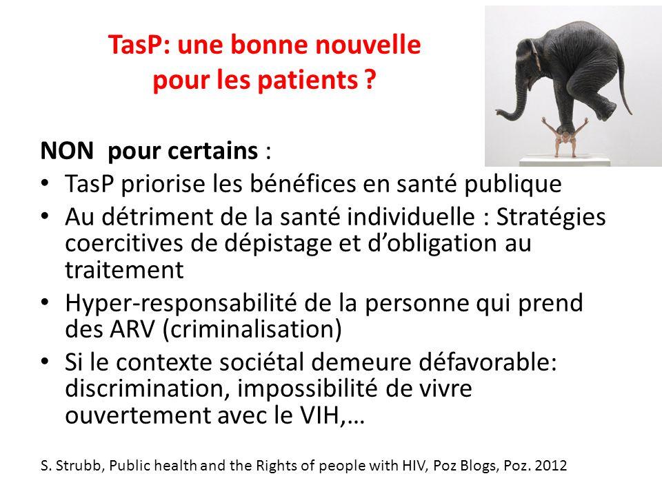 TasP: une bonne nouvelle pour les patients