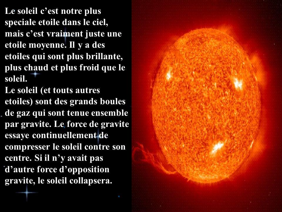 Le soleil c'est notre plus speciale etoile dans le ciel, mais c'est vraiment juste une etoile moyenne.