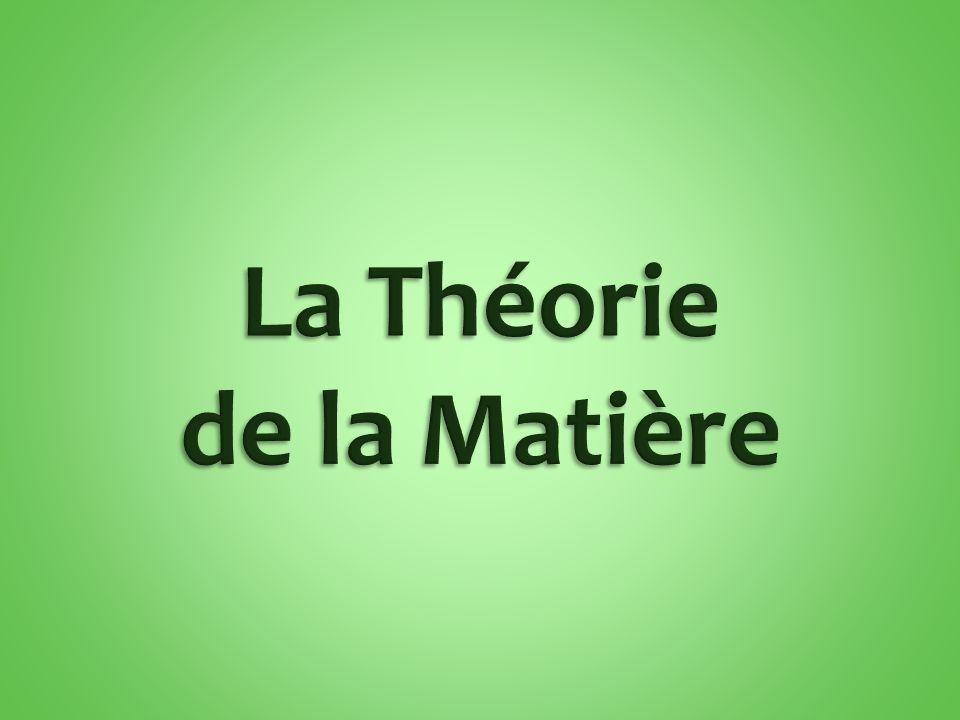 La Théorie de la Matière