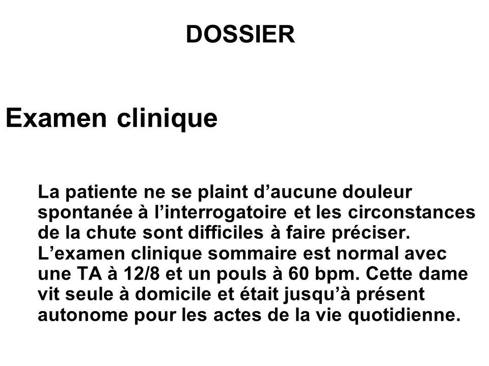 Examen clinique DOSSIER