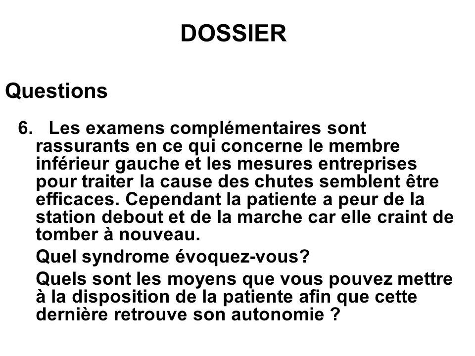 DOSSIER Questions.