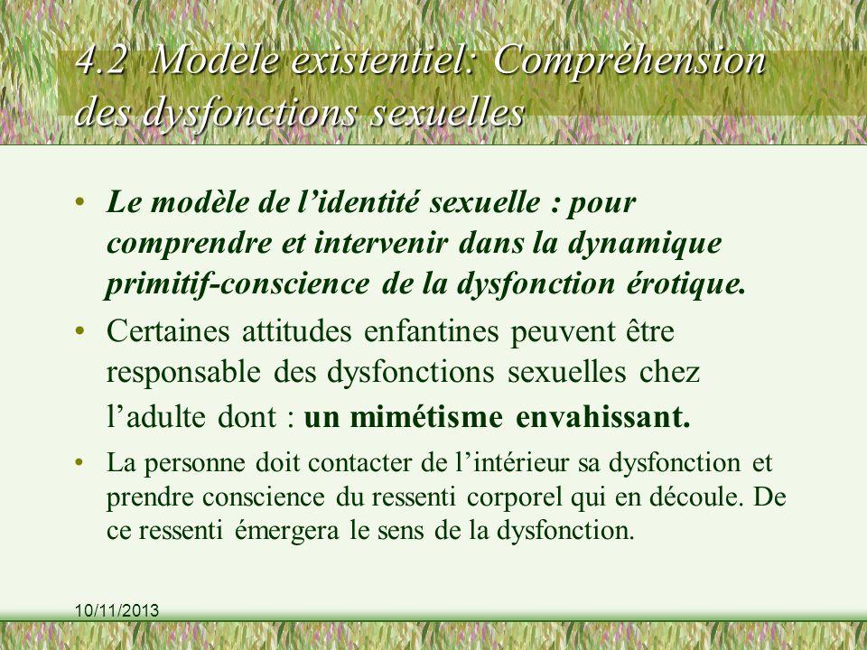 4.2 Modèle existentiel: Compréhension des dysfonctions sexuelles