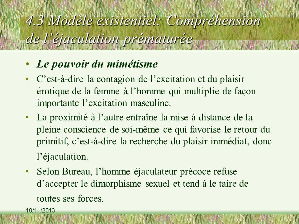 4.3 Modèle existentiel: Compréhension de l'éjaculation prématurée