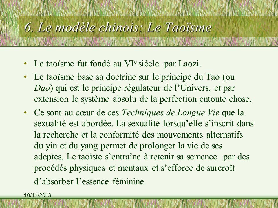 6. Le modèle chinois: Le Taoïsme