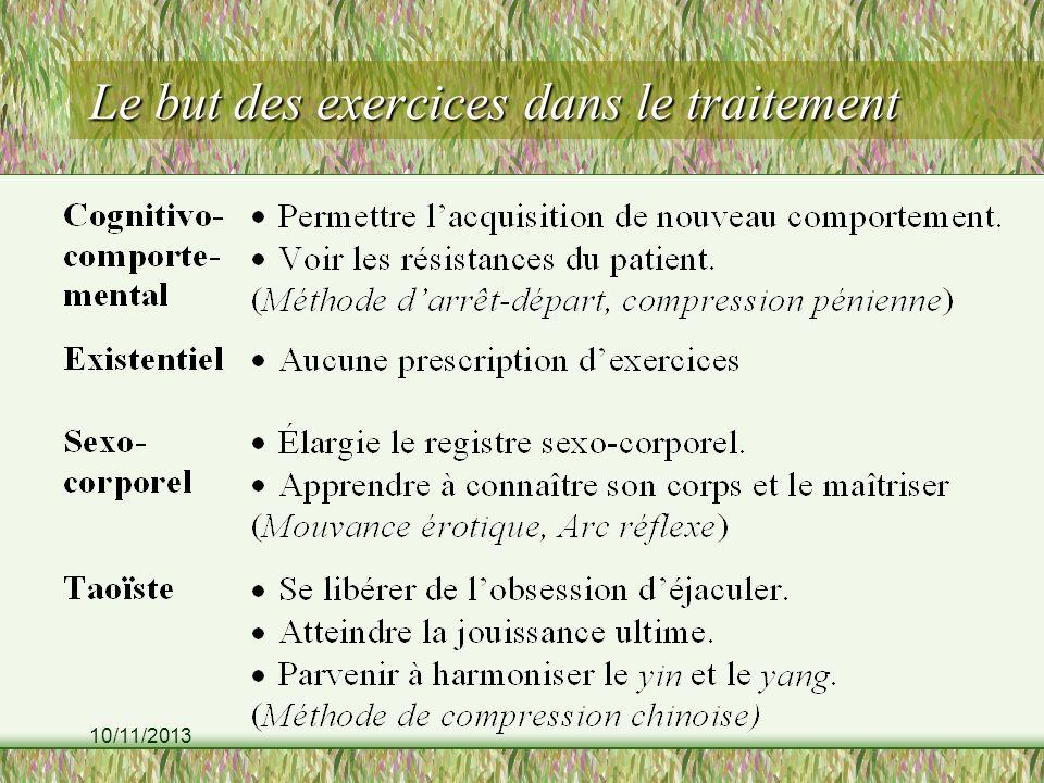 Le but des exercices dans le traitement