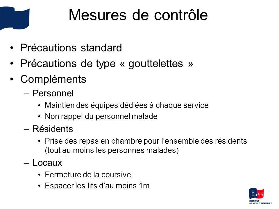 Mesures de contrôle Précautions standard