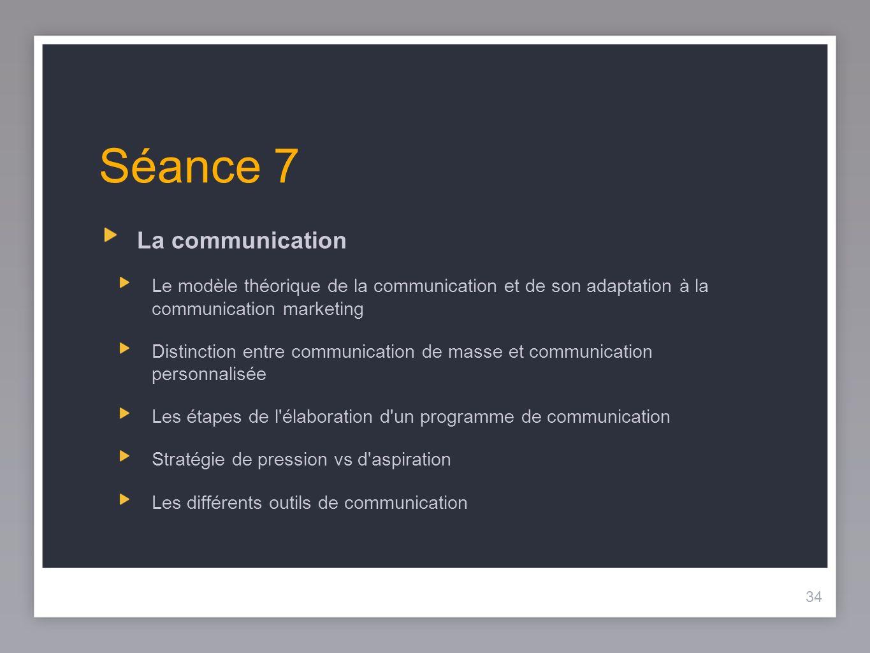 Séance 7 La communication