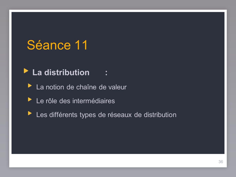 Séance 11 La distribution : La notion de chaîne de valeur