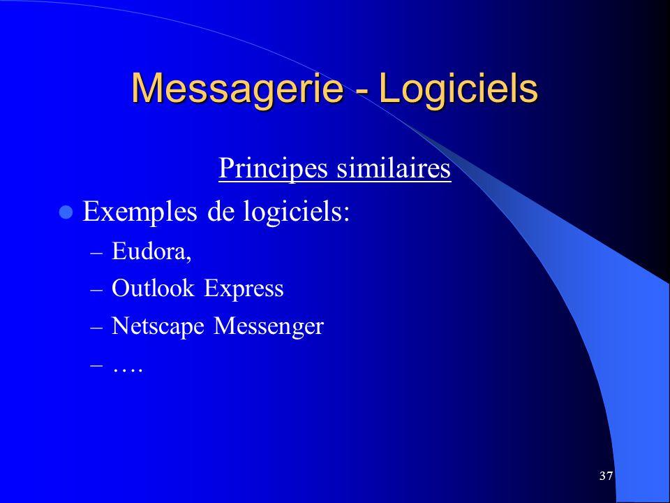 Messagerie - Logiciels