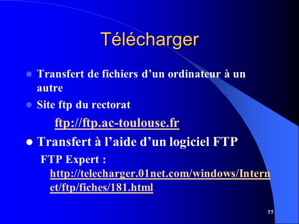 Télécharger Transfert à l'aide d'un logiciel FTP
