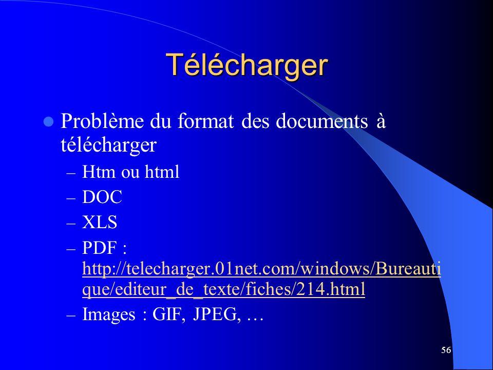 Télécharger Problème du format des documents à télécharger Htm ou html