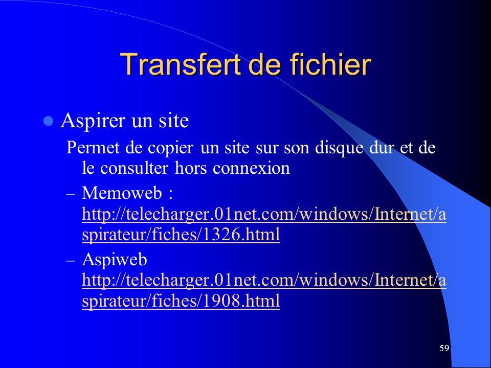 Transfert de fichier Aspirer un site