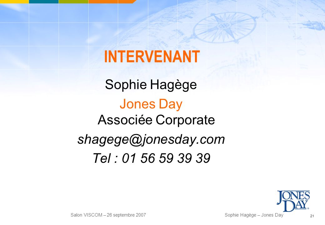 Jones Day Associée Corporate