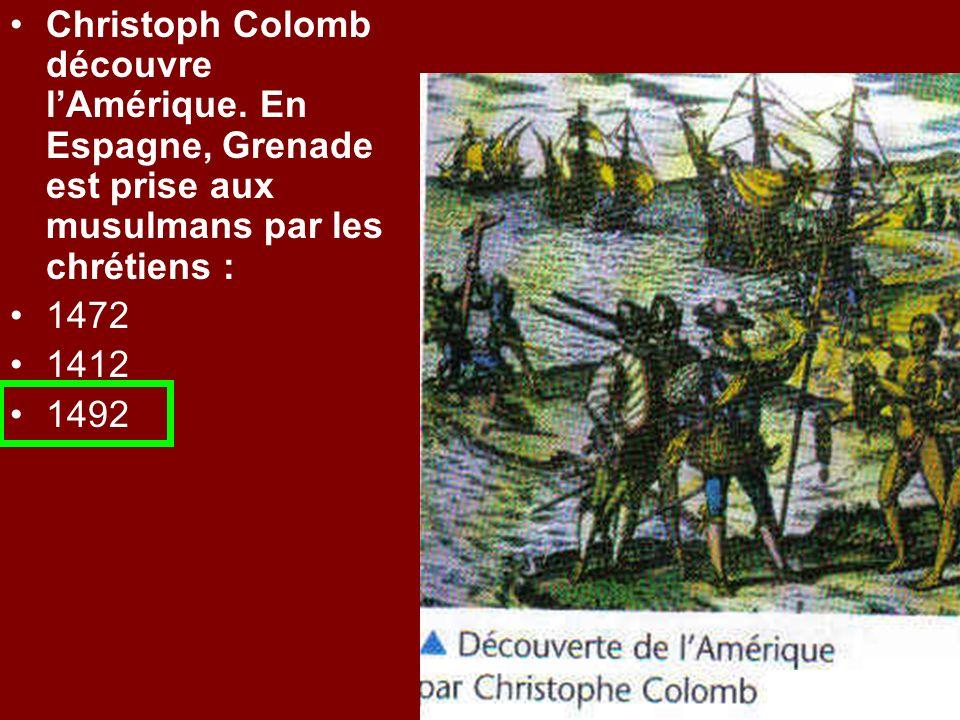 Christoph Colomb découvre l'Amérique