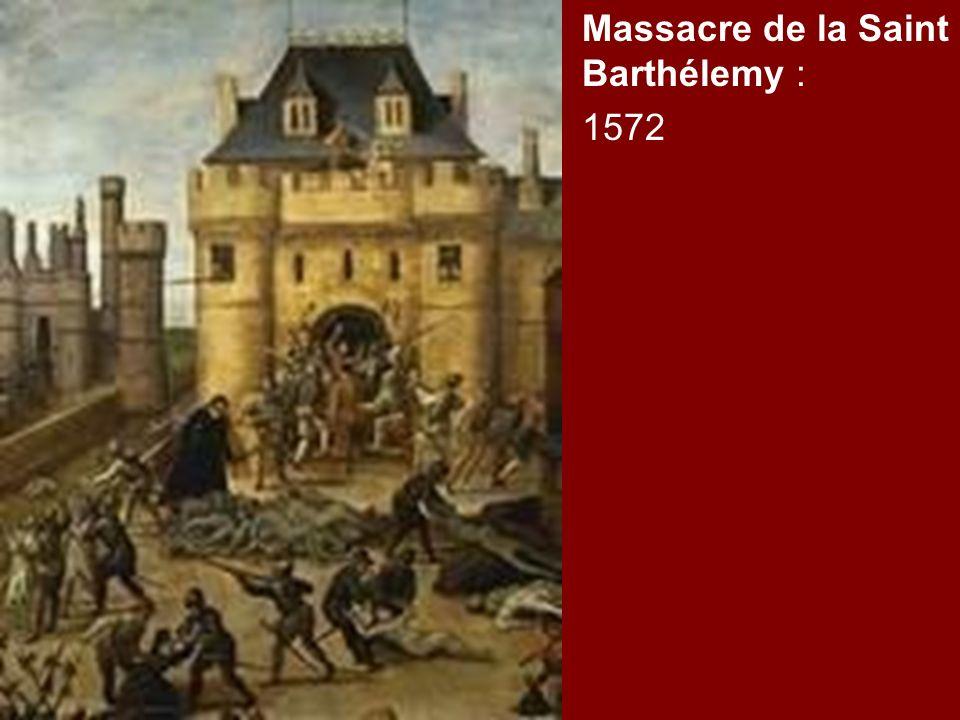 Massacre de la Saint Barthélemy :