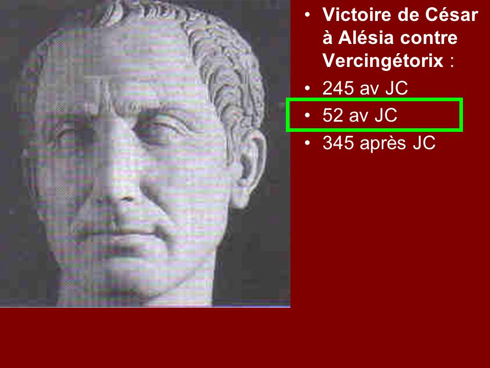 Victoire de César à Alésia contre Vercingétorix :