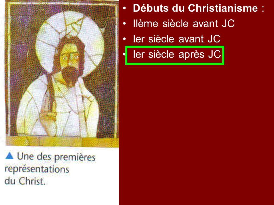 Débuts du Christianisme :