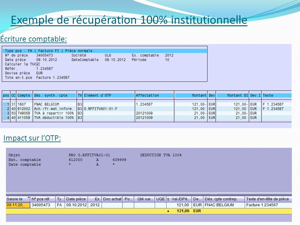 Exemple de récupération 100% institutionnelle