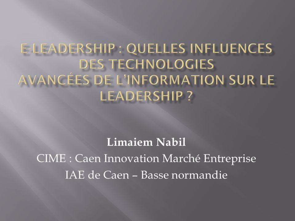 E-leadership : Quelles influences des Technologies Avancées de l'Information sur le leadership