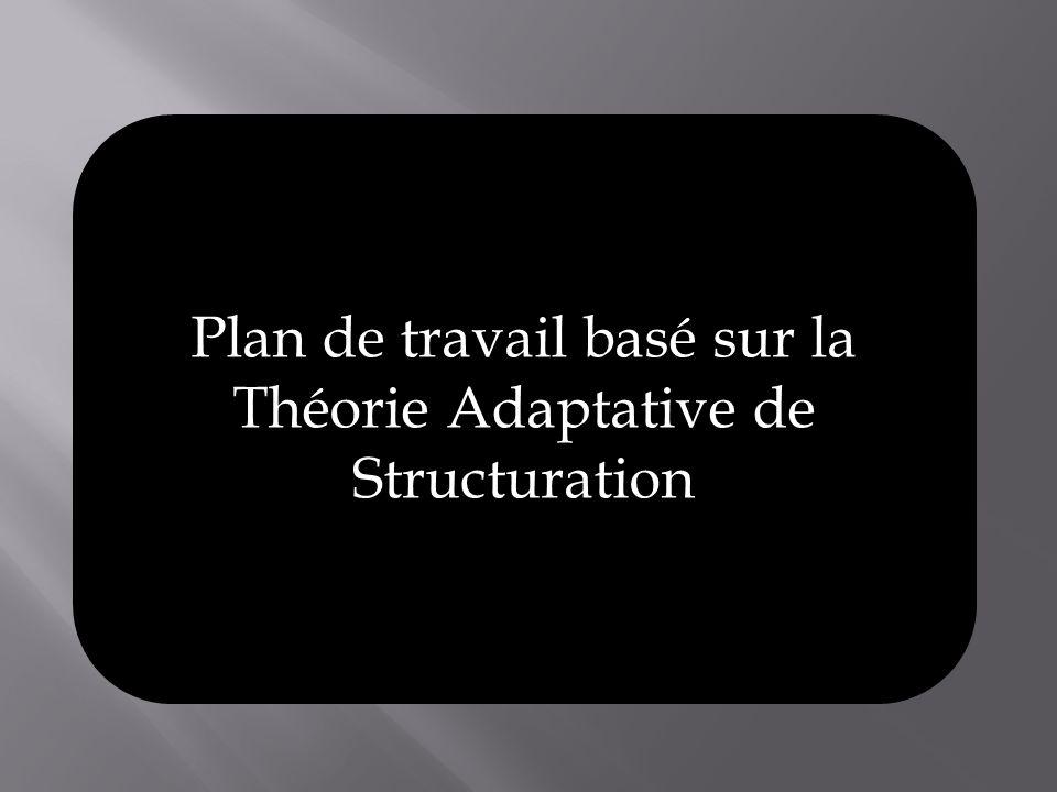 Plan de travail basé sur la Théorie Adaptative de Structuration