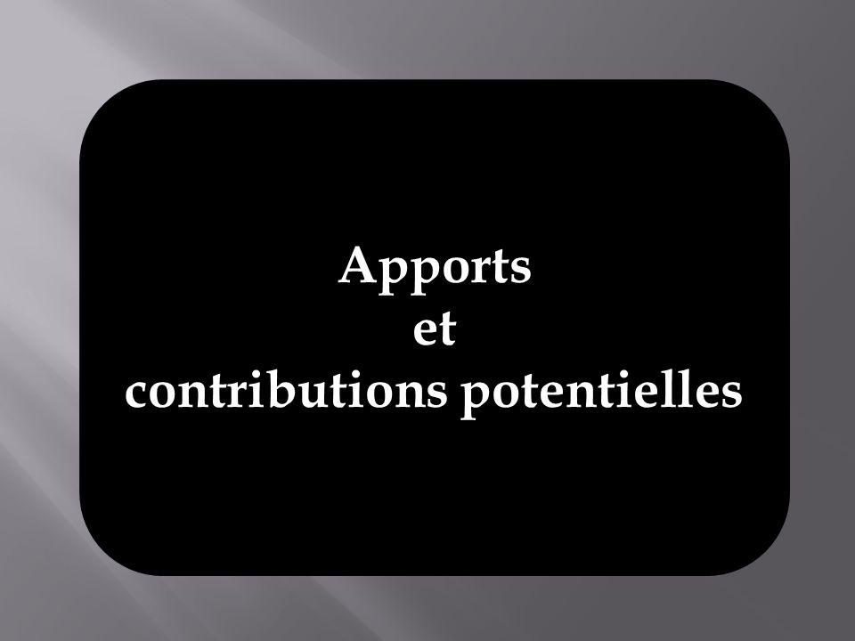 contributions potentielles