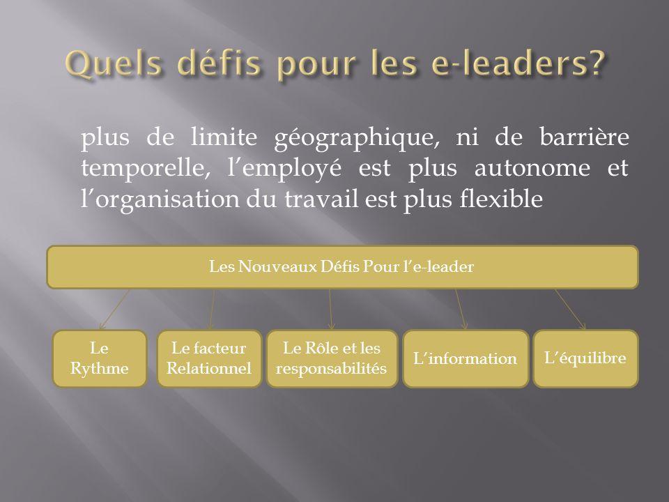 Quels défis pour les e-leaders