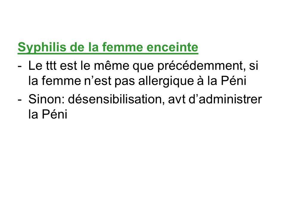 Syphilis de la femme enceinte