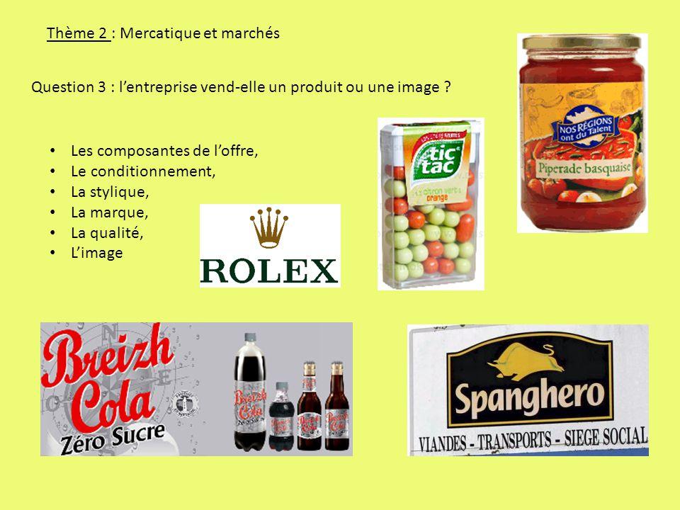 Thème 2 : Mercatique et marchés