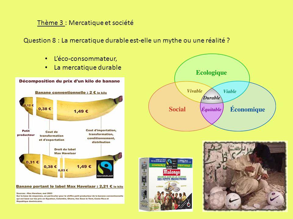 Thème 3 : Mercatique et société