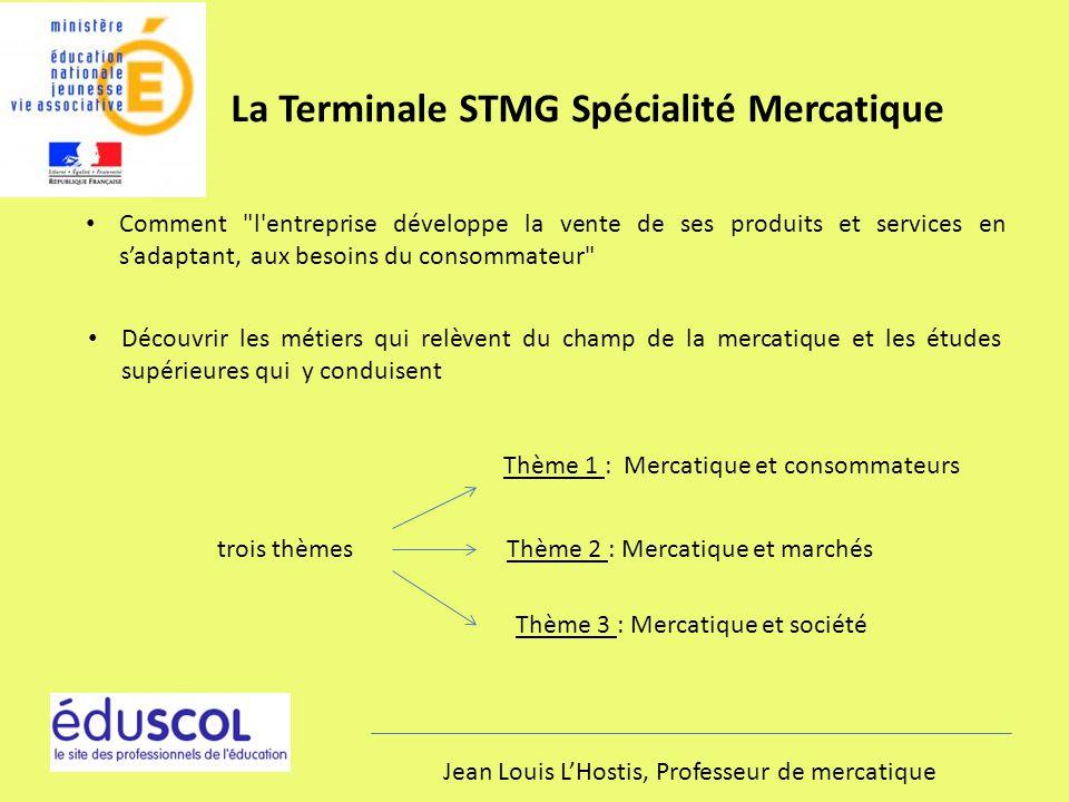 La Terminale STMG Spécialité Mercatique