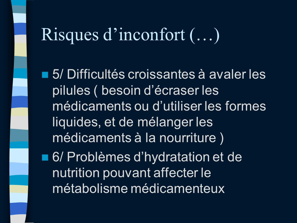 Risques d'inconfort (…)