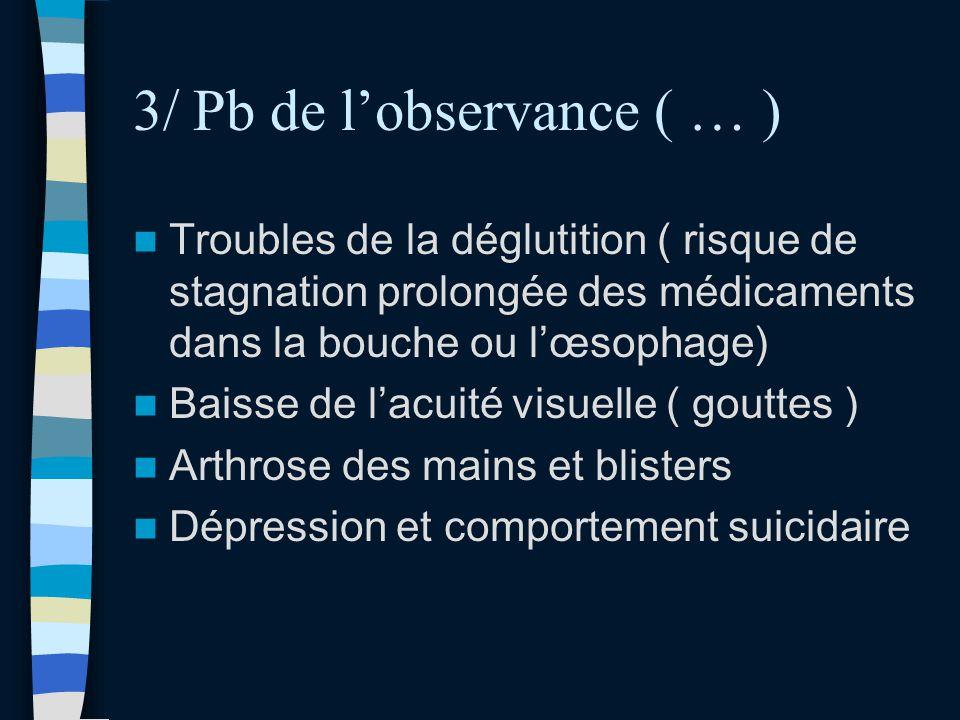 3/ Pb de l'observance ( … )
