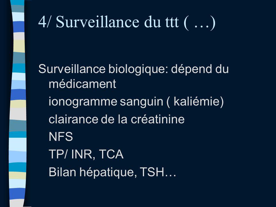 4/ Surveillance du ttt ( …)