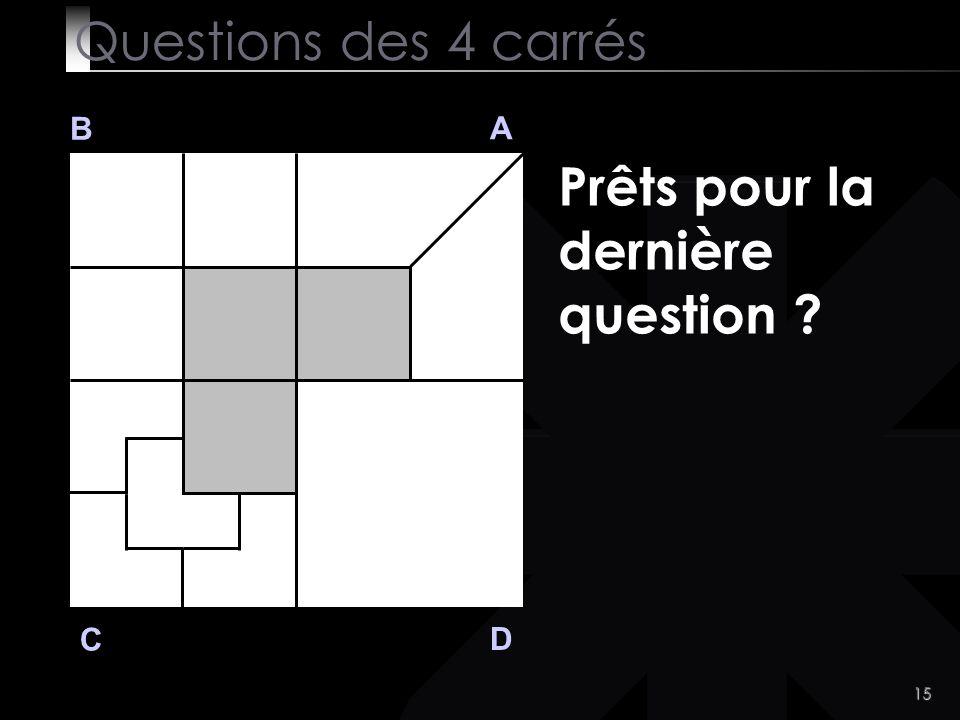 Prêts pour la dernière question