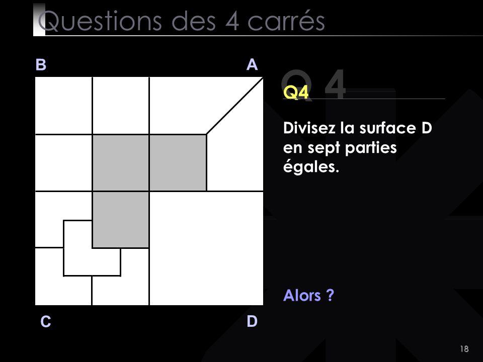 Q 4 Questions des 4 carrés Q4 B A