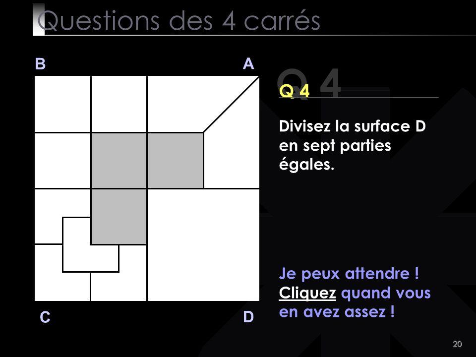 Q 4 Questions des 4 carrés Q 4 B A