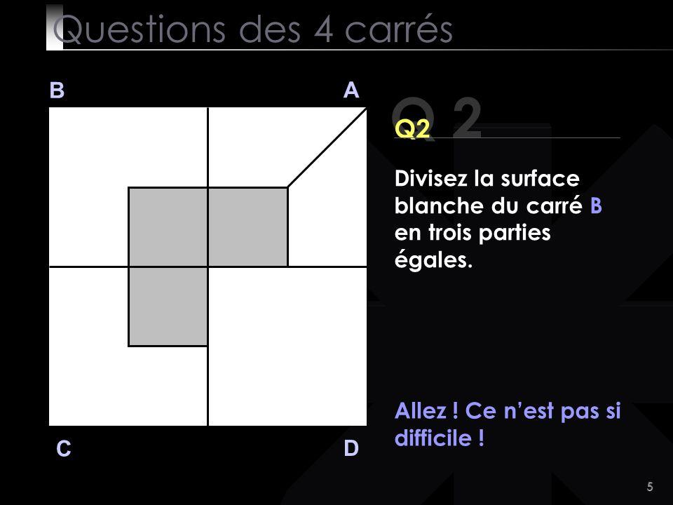 Q 2 Questions des 4 carrés Q2 B A