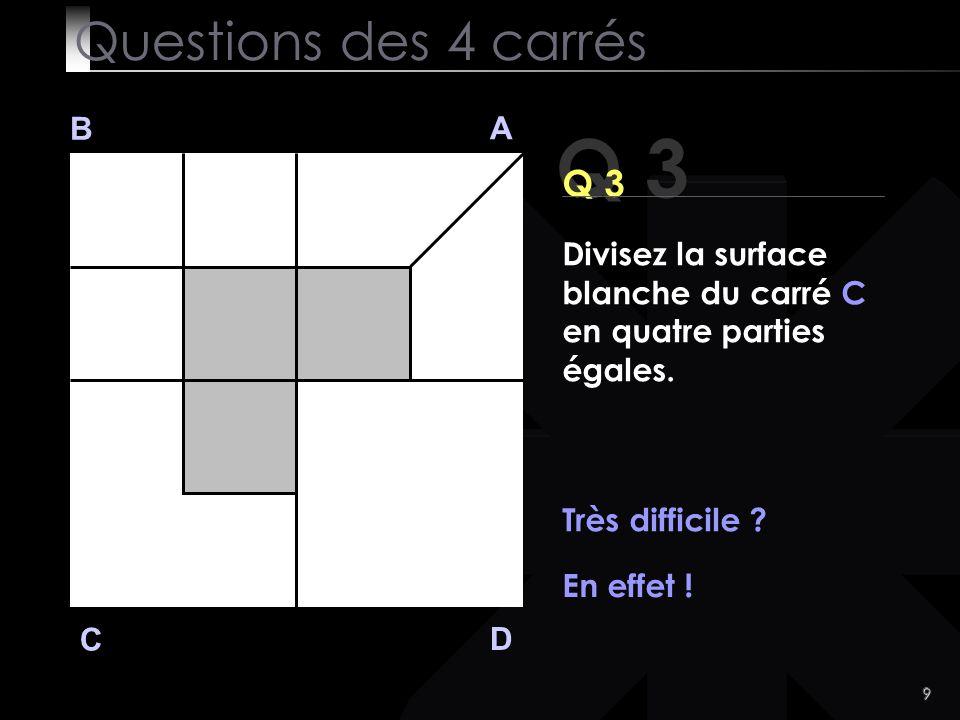 Q 3 Questions des 4 carrés Q 3 B A